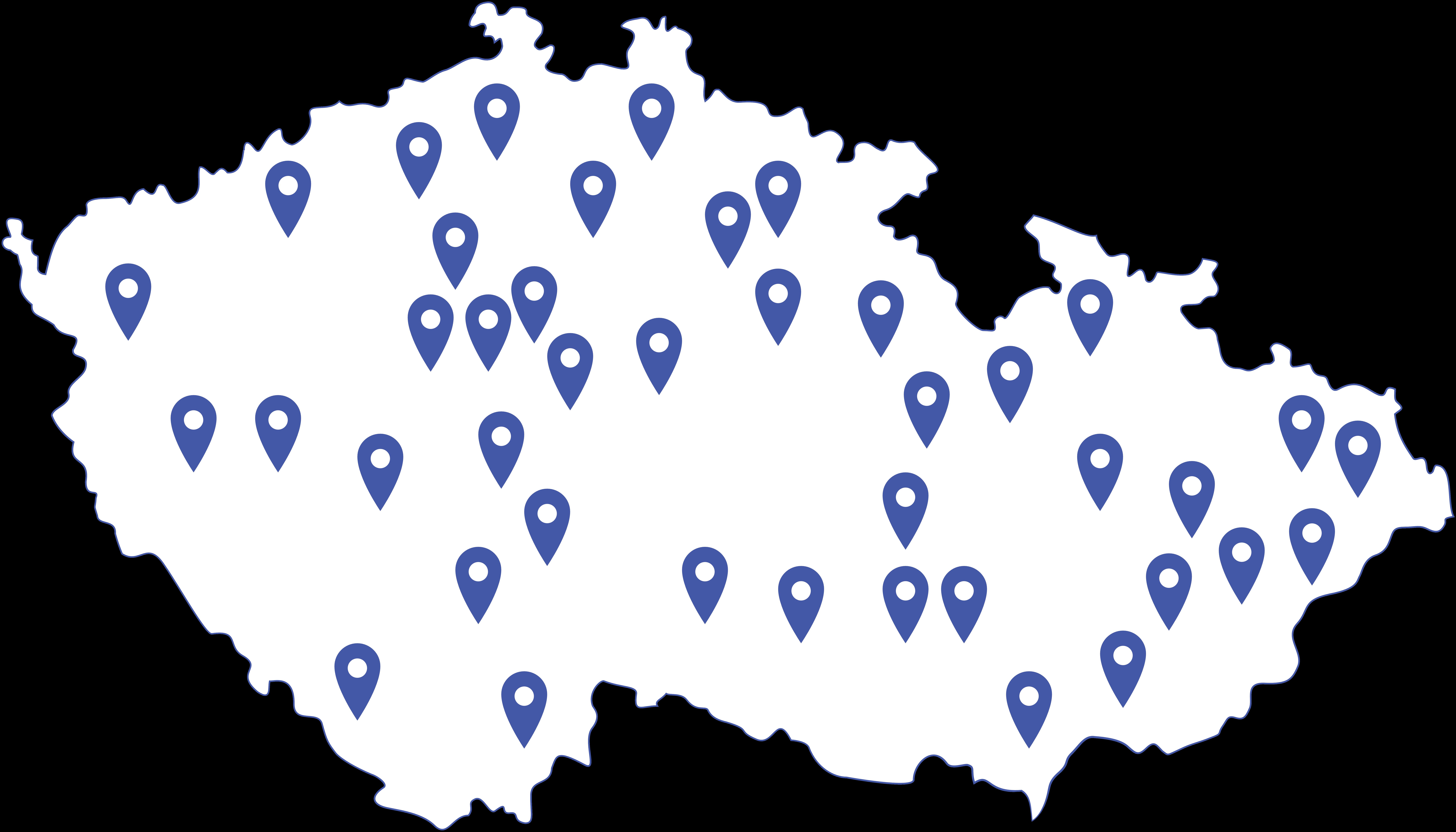 mapa členů tiny